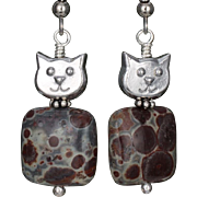 SALE Meet 'Jasper' the Cat Earrings