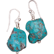 SALE Turquoise Nuggets Earrings