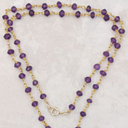 SALE Amethyst Pendant and Gemstone Necklace