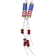 SALE Wave the Red, White and Blue! Patriotic Paper Bead Earrings (1)