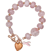 SALE Pretty in Pink Rose Quartz Bracelet