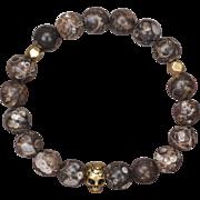 Turritella Skull Stretch Bracelet