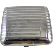 Cigarette case sterling silver Art Deco signed Watrous 3.2 ounce M121C&E