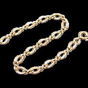 Vintage sterling silver gold vermeil charm bracelet 4.8 grams