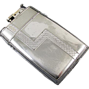 Art Deco 1929 chrome Evans lighter cigarette case Trig A Lite smoking collectible tobacciana