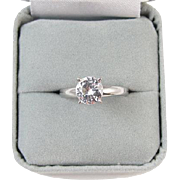 Vintage Vargas sterling silver faux diamond ladies engagement ring size 6