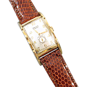 PROFESSIONALLY RESTORED and SERVICED Vintage 1938 wrist watch gold filled Gruen Curvex ...