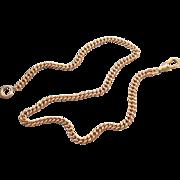 Vintage rose gold filled pocket watch chain signed LeStage