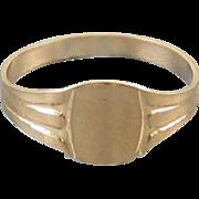 Antique Edwardian 10k gold baby infant childs signet ring