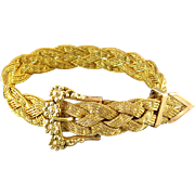 Antique Edwardian woven wire work mesh buckle bracelet gold filled signed WC Edge Co