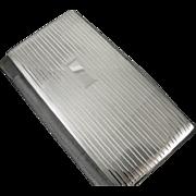 EXTRA LARGE bill fold size cigarette case sterling silver vintage Art Deco Napier 7.2 ...