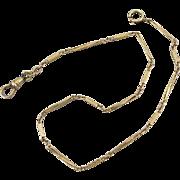 Vintage Art Deco gold filled bar link mens pocket watch chain