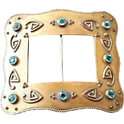 Victorian Arts and Crafts zircon belt buckle sash