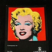 1994 Christie's Auction Catalog, Contemporary Art, Warhol, Calder