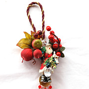 Vintage WENDY GELL Santa Claus Door Ornament Hanger