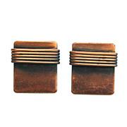 SALE Vintage Copper Screw Back Earrings, Wire Wrap