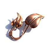 SALE Vintage Signed RENOIR Copper Leaf Pin