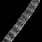Vintage STERLING TAXCO Mexico Butterfly Shape Link Bracelet