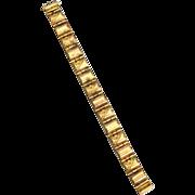 SALE Victorian Era Gold Filled Bracelet, Floral Designs