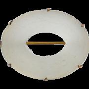 SALE Victorian Era Gold Filled Camphor Glass Pin