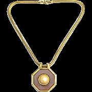 Vintage Signed LANVIN Paris Modernist Lucite Necklace