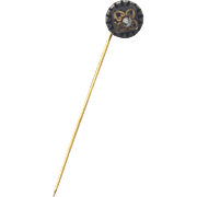 SALE Victorian Era Gold Filled and Silver Stick Pin