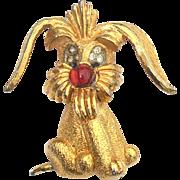 SALE Vintage Signed JOMAZ Puppy Dog Pin