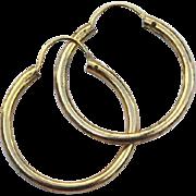 SALE Vintage Hallmarked 12K Gold Filled Hoop Earrings