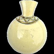 SALE Early Vintage Signed MONET Enameled Vase Urn Fur Clip