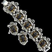 SOLD Vintage Selro Selini Blackamoor Asian Princess Bracelet And Earrings Set, Substantial Pie