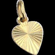 SALE Vintage 14K Gold Heart Shaped Charm Or Pendant