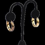 Hallmarked Sterling Silver Gold Vermeil Hoop Earrings, Wide