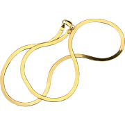 Hallmarked STERLING SILVER Italy Snake Chain Necklace, Gold Vermeil