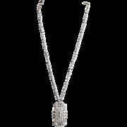 SALE 1930's KTF Trifari Krussman Fishel Art Deco Style Rhinestone Necklace, Very Rare Piece!