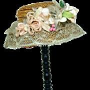 SALE Antique FF Straw Hat
