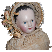 All Original French Pauline Papier Mache doll