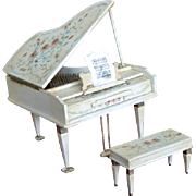 Miniature Baby Grand Piano Artist Painted