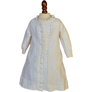 SOLD Antique White Bustle Dress for French Bebe