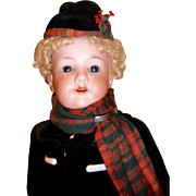 Lovely Scottish A M Boy Bisque Doll