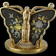 Damascene Butterfly Place Card Holders, set of 8, Japan