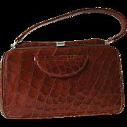 Classic Crocodile Handbag, Vintage 1960's, like new!