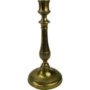Early 19th C.  Fine Brass Candlestick