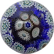 Mini Millefiori Glass Paperweight, 1 ¼ inches