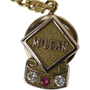 McLean Trucking Company 10k gold, ruby, diamond Tie Pin