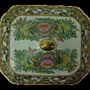 Vintage Chinese Rose Medallion serving dish Lid, c.1960