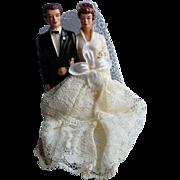 Vintage mid-century Wedding Cake Topper