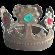 Vintage Jeweled Crown Religious Saint Santo