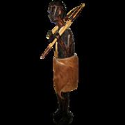 Wooden Hunter or Warrior Figure - Kenya, 1952
