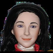 """16"""" Porcelain Franklin Mint Heirloom Doll - Elizabeth Taylor in National Velvet 1987, New"""