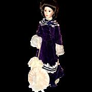 "Franklin Mint 18"" Porcelain Victorian Lady Doll1989"